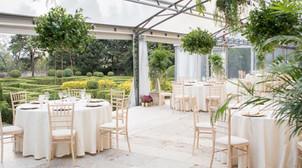 Overdekte terras voor bruiloften bij Quinta do Torneiro in Portugal