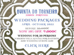Quinta do Torneiro Wedding Package - Apr