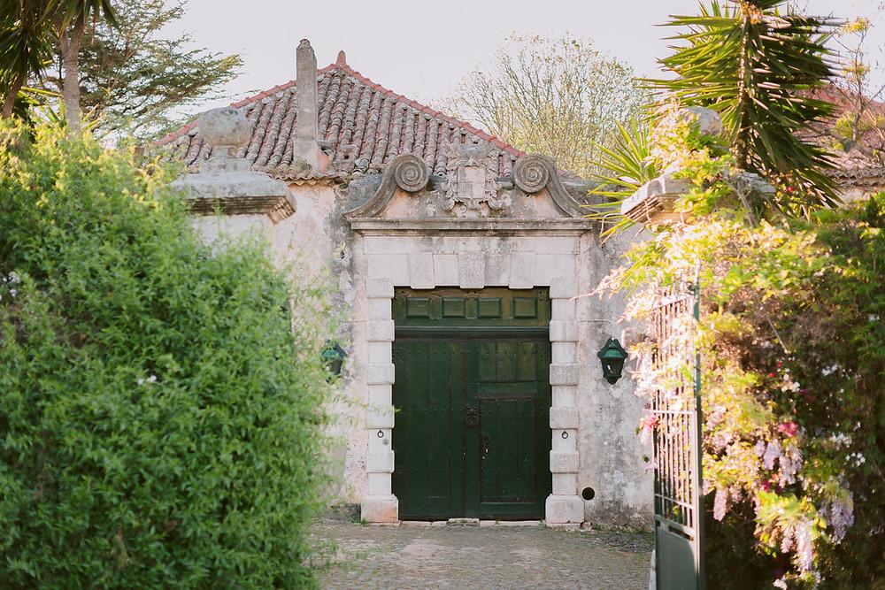 A Porta Verde de Entrada da Quinta do Torneiro espaço para casamentos e eventos em Lisboa