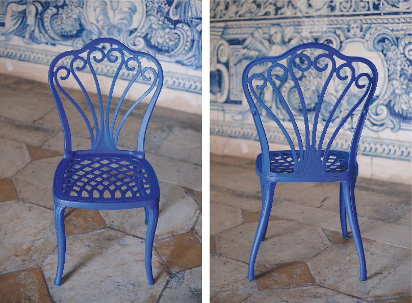 Cadeira Metalica Azul