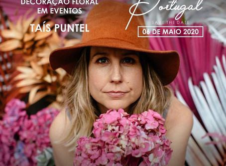 Curso de Decoracao Floral com Tais Puntel em Portugal