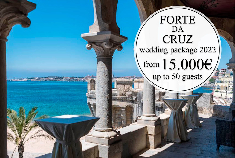 B Lisbon Wedding Planner offers you Forte Da Cruz wedding package from 15,000€. Up to 50 guests.
