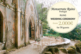 Monserrate Ruins Ceremony Wedding Package Sintra Portugal 2021 2022