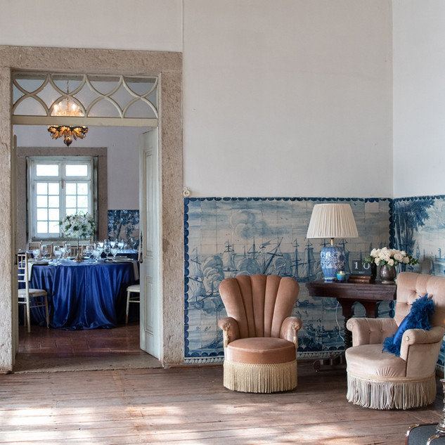 Caravel Room for wedding at Quinta do Torneiro in Lisbon, Portugal