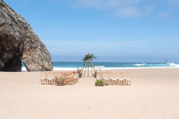 Wedding Ceremony at Adraga Beach Venue by Lisbon Wedding Planner