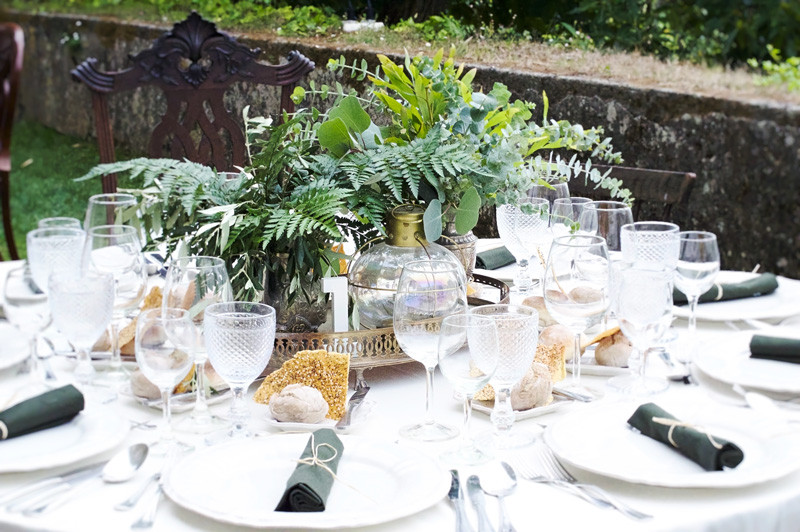 Greenary and foliage centrepieces