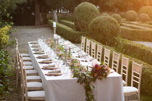 Buiten bruiloft bij Quinta do Torneiro, Lissabon.
