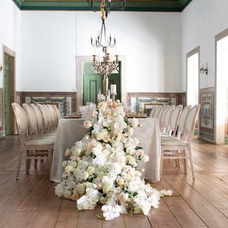 Klassieke tafel voor uw bruiloft