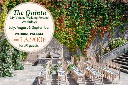 The Quinta Vintage Wedding Package - July, August & September