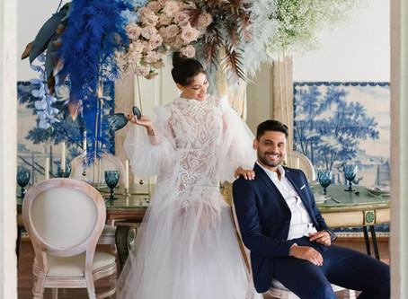 A Cor Azul Clássico nos casamentos da Quinta do Torneiro