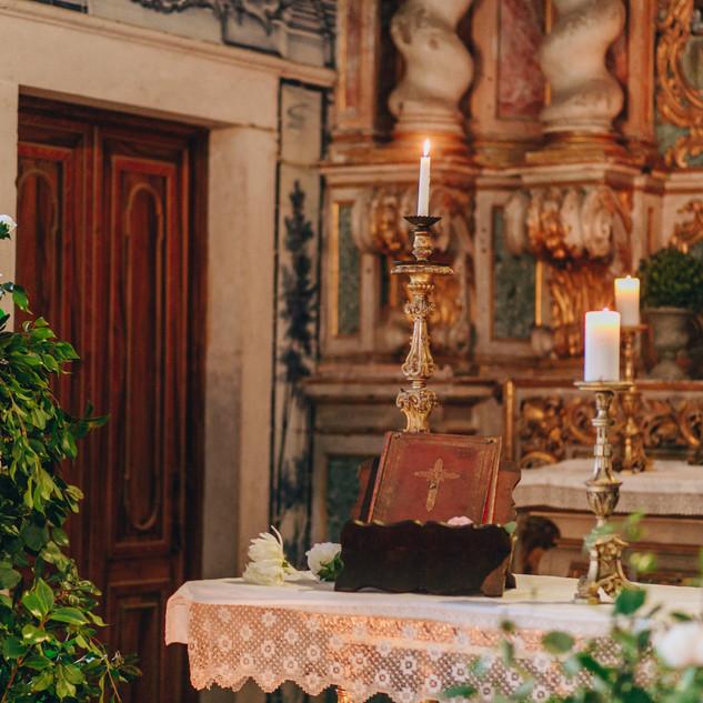 Het altaar van de Kapel van Quinta do Torneiro