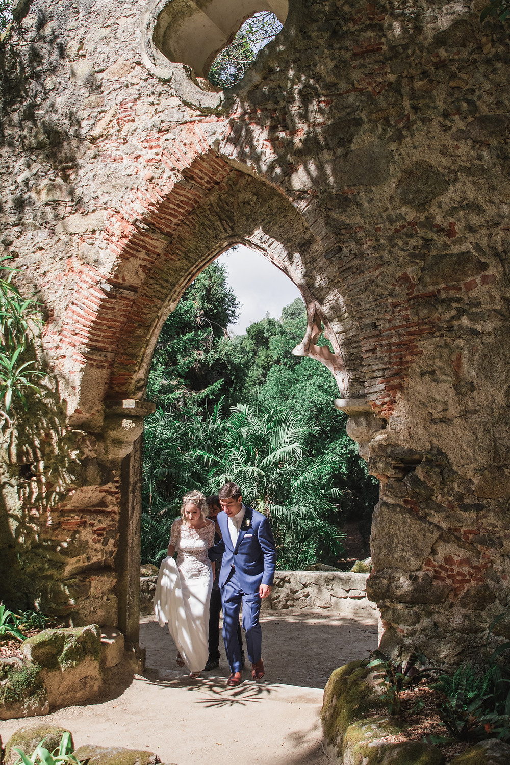 Monserrate Ruins Wedding Portugal