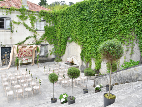Outdoor Reception at The Quinta - My Vintage Wedding Portugal