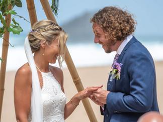Beach Wedding Ceremony by Lisbon Wedding Planner