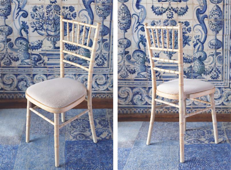 Cadeira de Madeira Branca