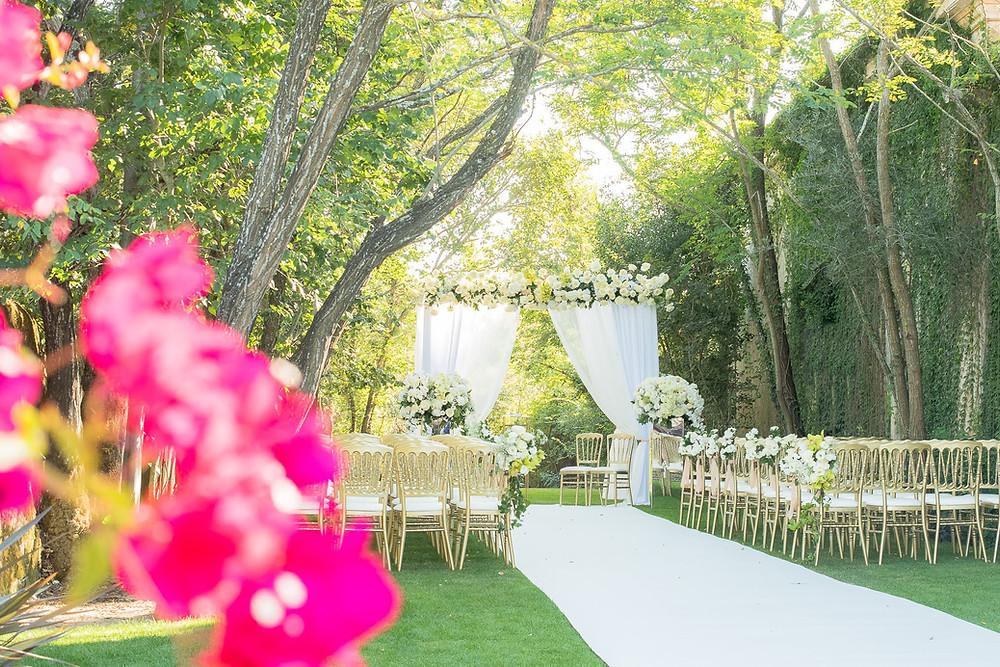 Cerimônia ao ar livre - Quinta do Torneiro