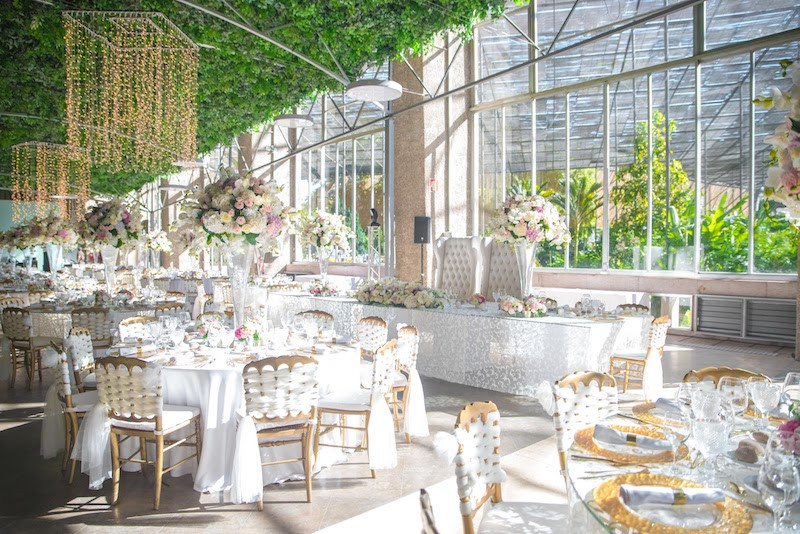 Large greenhouse wedding venue in Lisbon Portugal