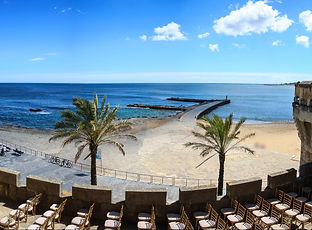 Beach wedding by Lisbon wedding planner in Portugal