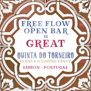 Free Flow open bar is Great Quinta do Torneiro Large Destination Wedding Venue Portugal with Gardens and Rooms with Tiles and accomodation