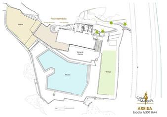 Venue area map Arriba by the sea