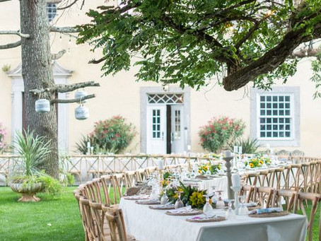 S Curved Outdoor Wedding Tables Ideas in Portugal