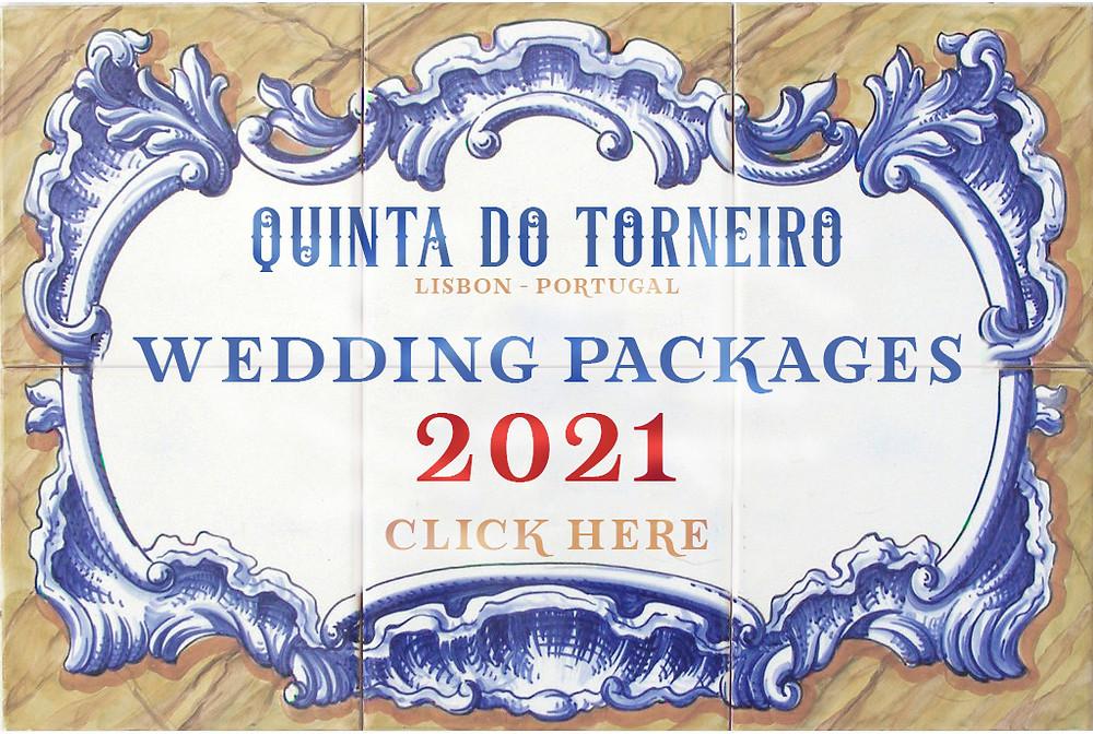Os pacotes de casamento de 2021 para festa na quinta do Torneiro