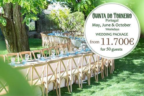 Quinta do Torneiro - Wedding Package Weekdays - May, June & October