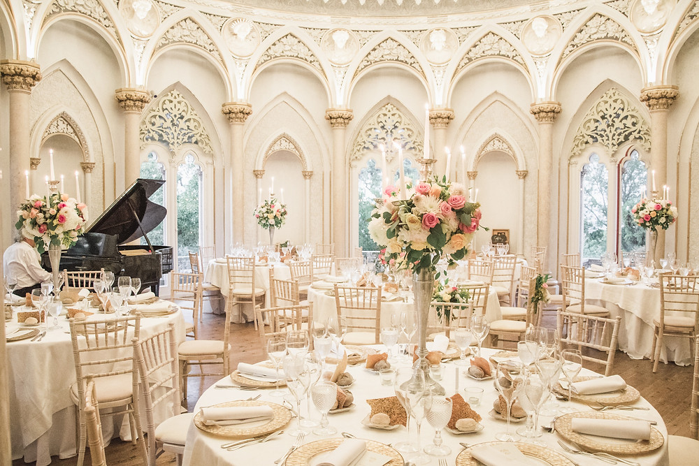 Piano Room Monserrate Palace Wedding Portugal