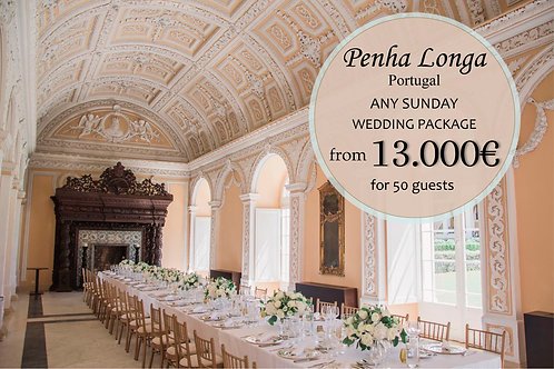 Penha Longa - Wedding Package (Any Sunday)