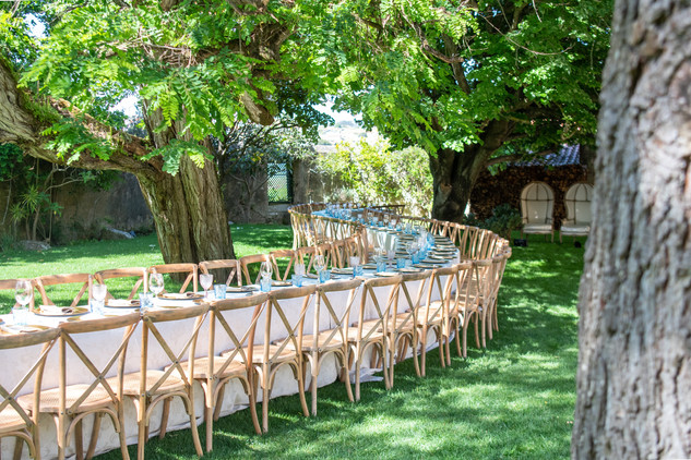 Slange tafel bij Quinta do Torneiro