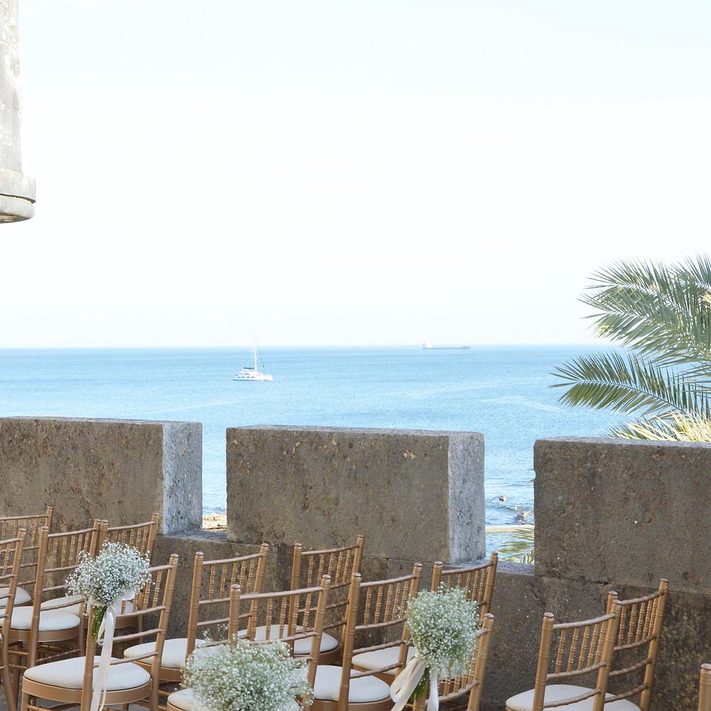 Forte da Cruz wedding ceremony