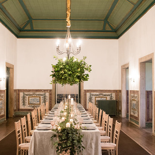 Wedding tables decoration by Lisbon Wedding Planner at Quinta do Torneiro in Lisbon, Portugal
