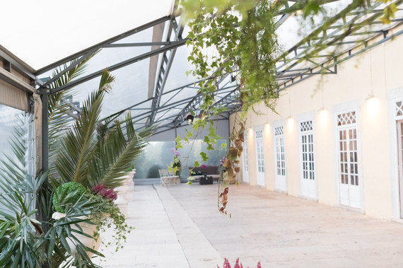 Greenhouse for weddings and events at Quinta do Torneiro in Portugal