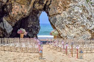 Adraga Beach Ceremony Sea View