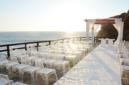 Top Wedding Ceremony view by the sea