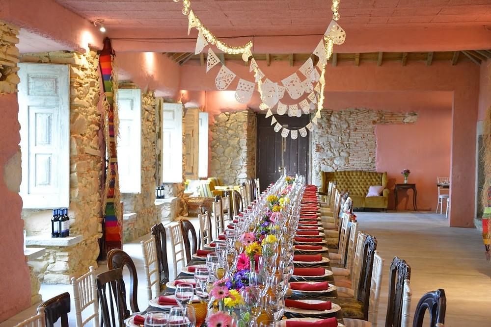 My Vintage Wedding in Portugal Indoor Wedding Reception