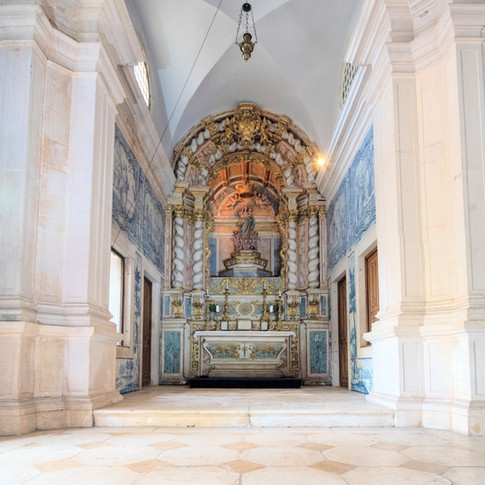 Chapel for wedding ceremony at Quinta do Torneiro in Lisbon, Portugal