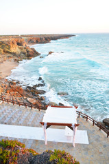 Top view of the venue by the sea