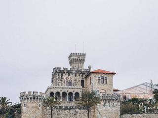 View from the Forte da Cruz Beach Castle Wedding Venue in Tamariz Estoril Portugal by Lisbon Weddin Planner