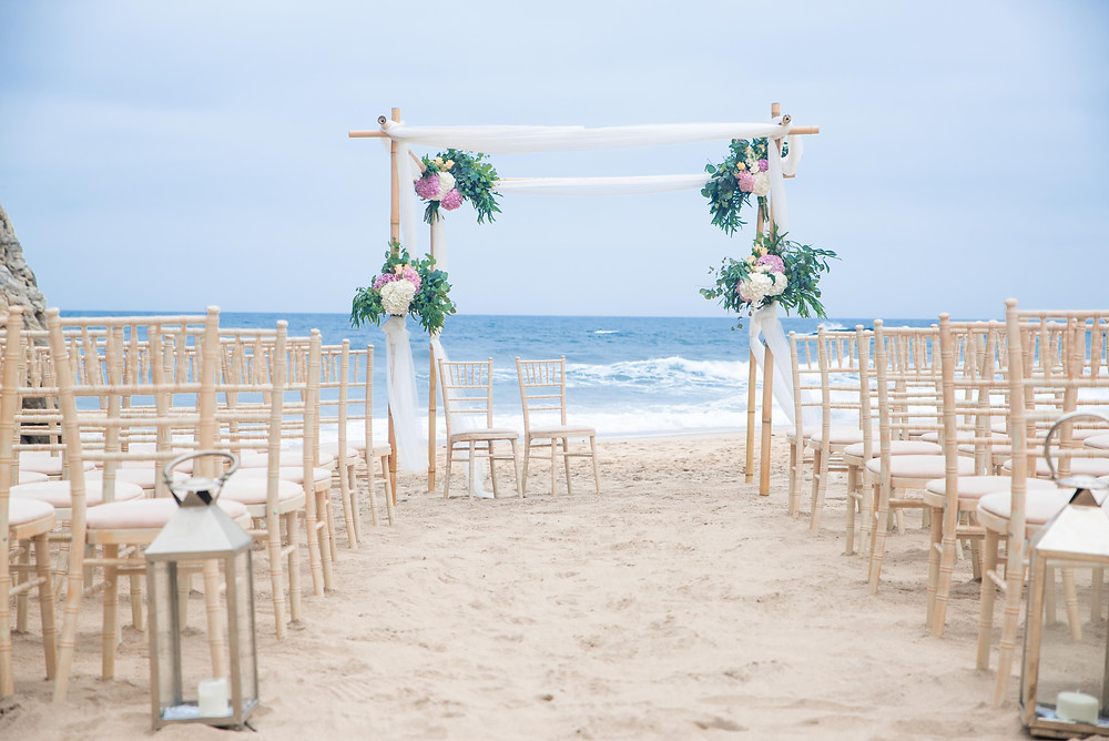 Beautiful ceremony at Adraga Beach in Portugal