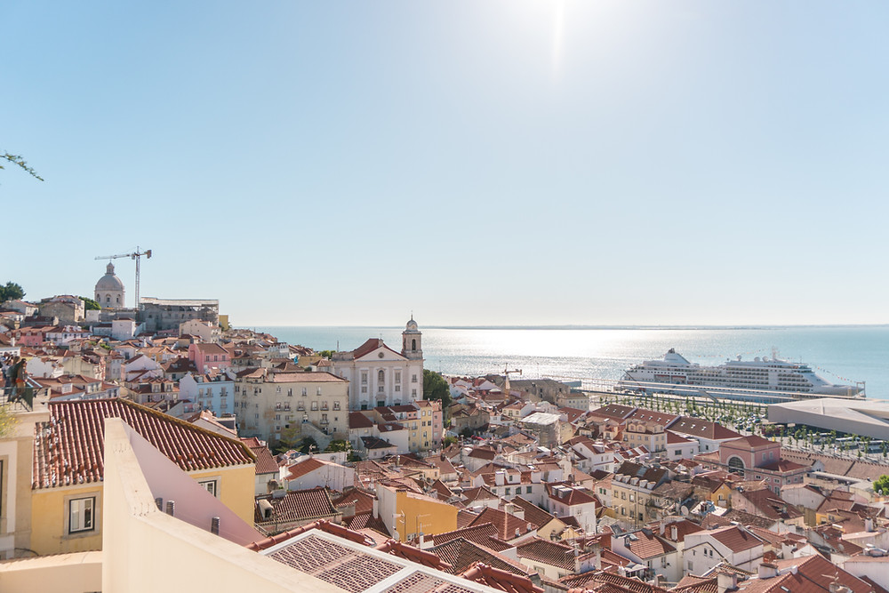 overseas wedding in Portugal city center Lisbon with amazing views