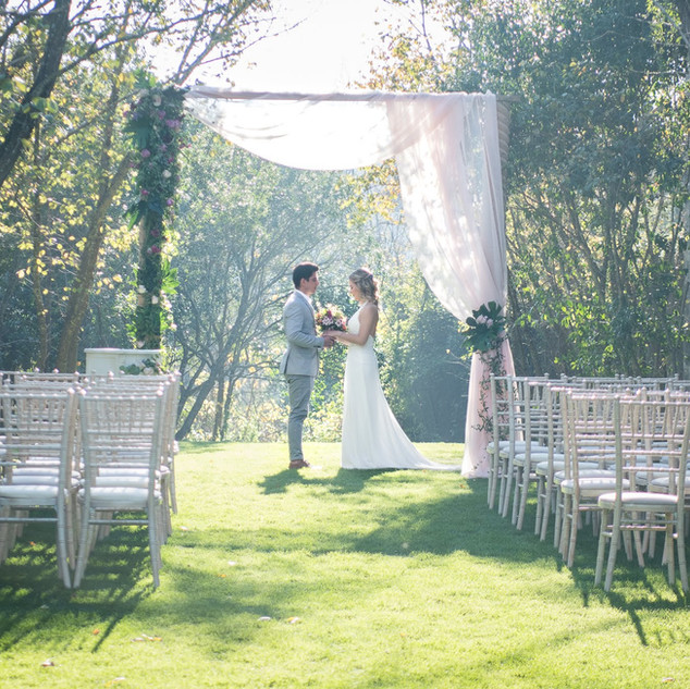 Bruiloft ceremonie bij Quinta do Torneiro.