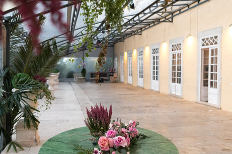 Covered Terrace for weddings at Quinta do Torneiro in Portugal
