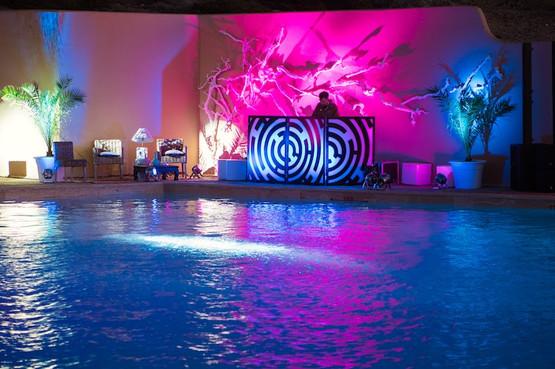 Wedding Disco at Swimming Pool