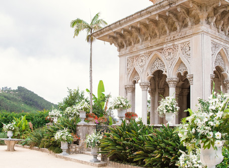 Real Fairytale Wedding in Sintra, the wedding ceremony in Monserrate Palace Wedding Venue
