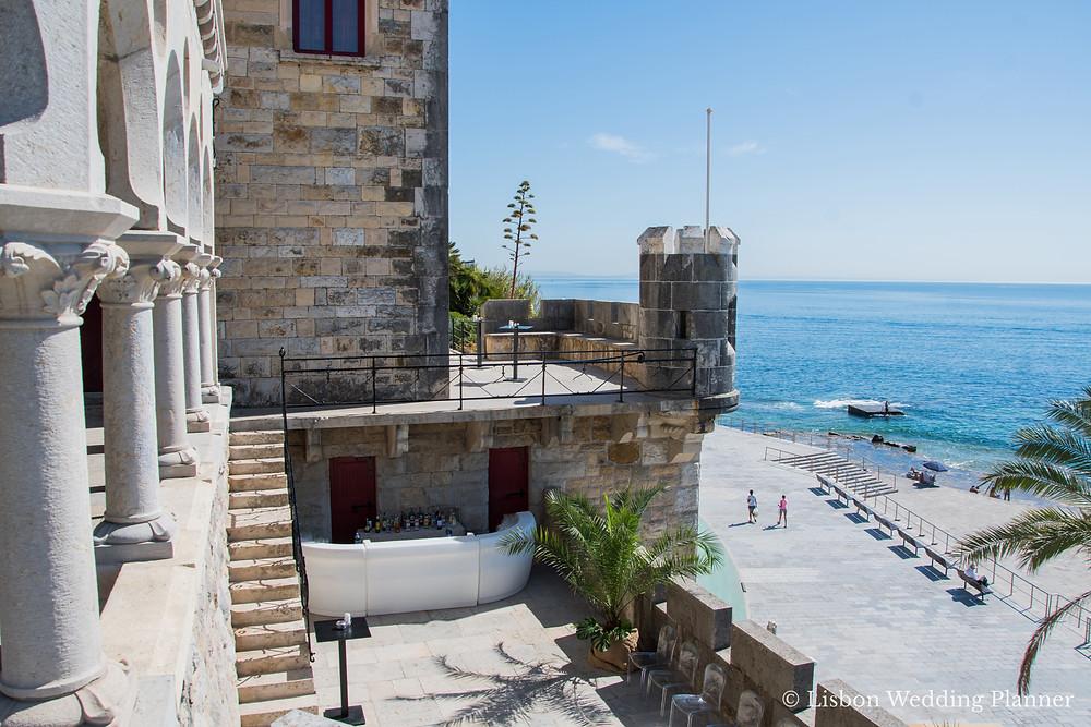 A beach castle with amazing ocean view for a nigerian destination wedding in the Lisbon Coast Portugal