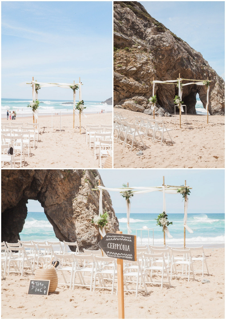 Beach Wedding Ceremony Portugal
