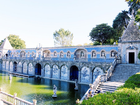 Historical Palacio Marques Fronteira blue tiles wedding venue in Lisbon Portugal