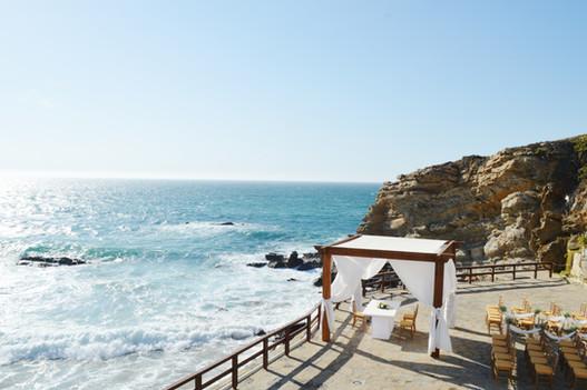 Beach wedding venue view in Portugal