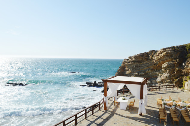 Beach wedding venue view in Portugal